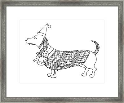 Christmas Dog Framed Print by Neeti Goswami