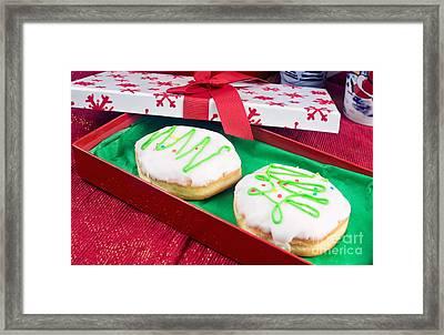 Christmas Jelly Donuts Framed Print by Vizual Studio