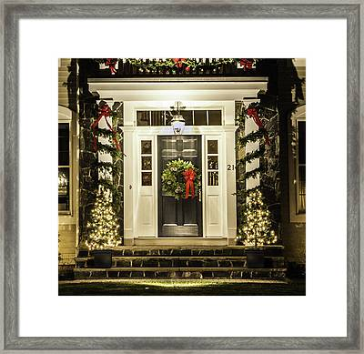 Framed Print featuring the photograph Christmas Door 2 by Betty Denise