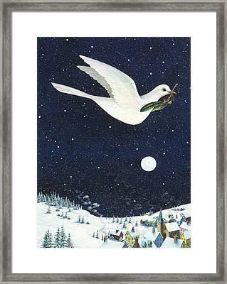 Christmas Dove Framed Print