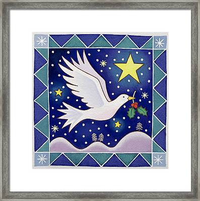 Christmas Dove  Framed Print by Cathy Baxter