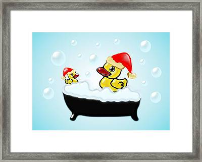 Christmas Ducks Framed Print by Anastasiya Malakhova