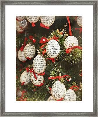 Christmas Egg Shells Decoration Framed Print by Ivy Ho