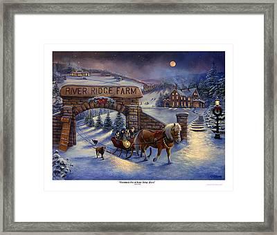 Christmas Eve At River Ridge Farm Framed Print