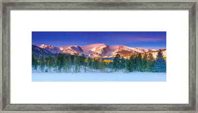 Christmas Eve At Sprague Lake Framed Print by Darren  White