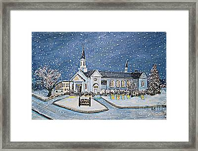 Christmas Eve At St. Jude Church Framed Print by Rita Brown