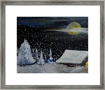 Christmas Eve Framed Print by Dick Bourgault