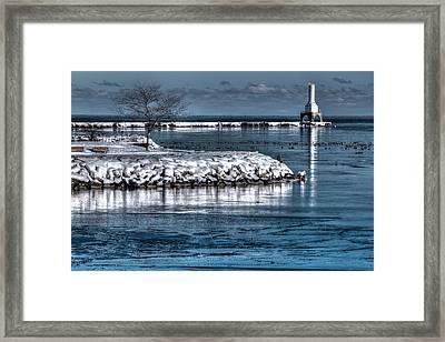 Christmas Eve Harbor Framed Print