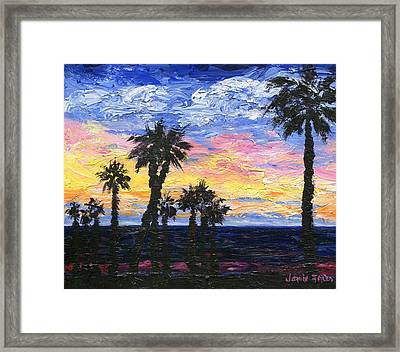 Christmas Eve In Redondo Beach Framed Print by Jamie Frier