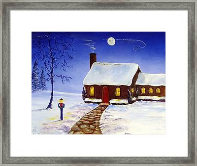 Framed Print featuring the painting Christmas Eve by Lee Piper