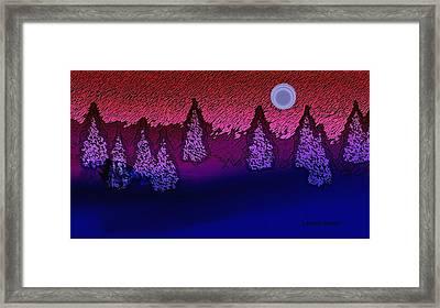 Christmas Eve Moon Framed Print