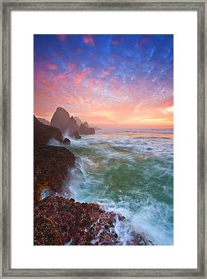 Christmas Eve Sunset Framed Print by Darren  White