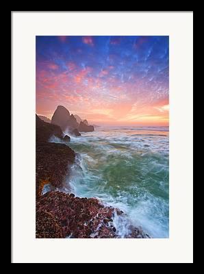 Bandon Sunset Framed Prints