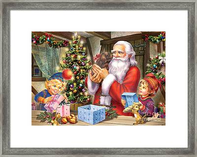 Christmas Eve Framed Print by Zorina Baldescu