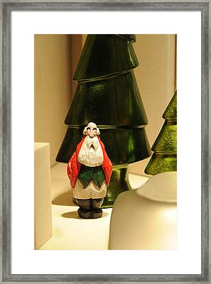 Christmas Figurine I Framed Print