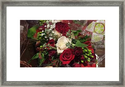 Christmas Floral Bouquet Framed Print