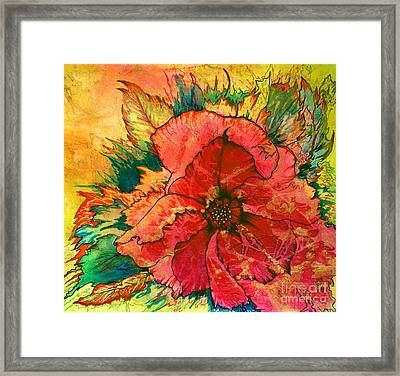Christmas Flower Framed Print