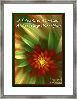 Christmas Flower Framed Print by Svetlana Nikolova