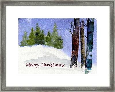 Framed Print featuring the painting Christmas Forest 02 by Anne Duke
