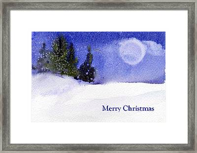 Framed Print featuring the painting Christmas Forest  03 by Anne Duke