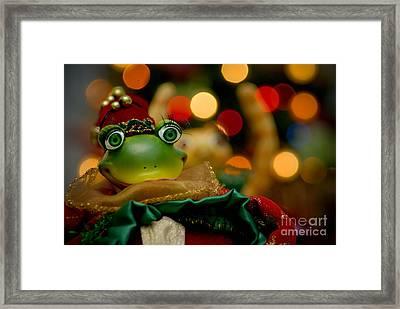 Christmas Frog Framed Print by Amy Cicconi