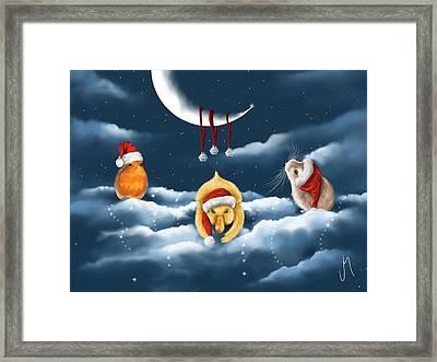 Christmas Games Framed Print by Veronica Minozzi