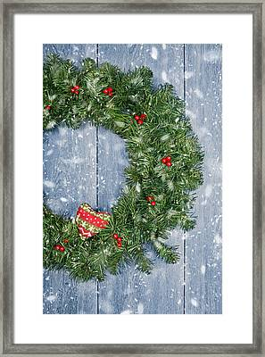 Christmas Garland Framed Print by Amanda Elwell