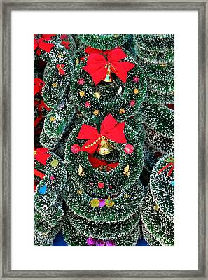 Christmas Garlands Framed Print by James Brunker