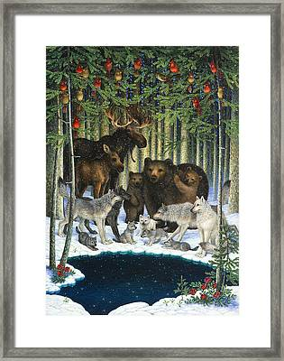 Christmas Gathering Framed Print by Lynn Bywaters