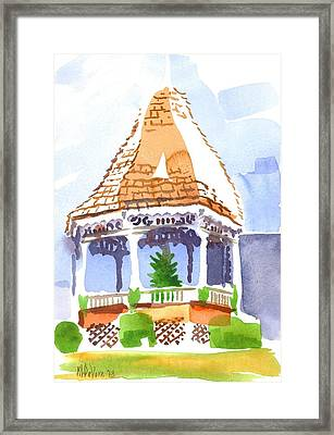 Christmas Gazebo Framed Print by Kip DeVore
