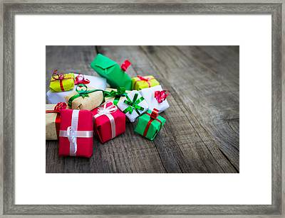 Christmas Gifts Framed Print by Aged Pixel