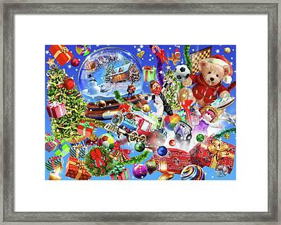 Christmas Globe Landscape Framed Print