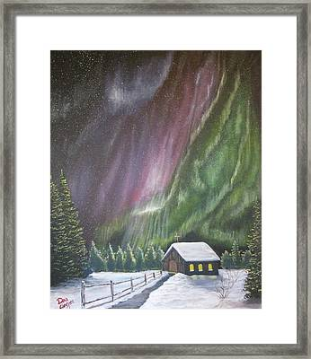 Framed Print featuring the painting Christmas Glory  by Dan Wagner