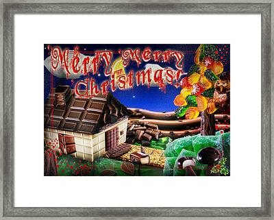 Christmas Greeting Card Iv Framed Print by Alessandro Della Pietra