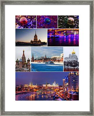 Christmas Greetings From Moscow - Featured 3 Framed Print by Alexander Senin