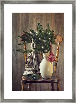 Christmas Holiday Chair Framed Print