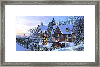 Christmas Homecoming Framed Print by Dominic Davison