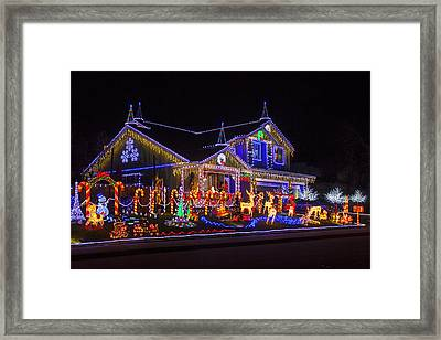 Christmas House Framed Print by Garry Gay