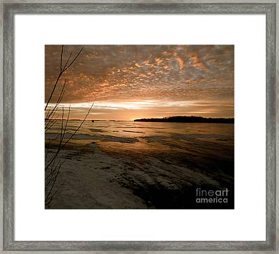 Christmas Ice Framed Print