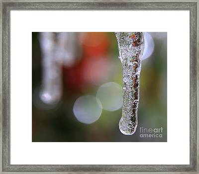Christmas Icicles Framed Print