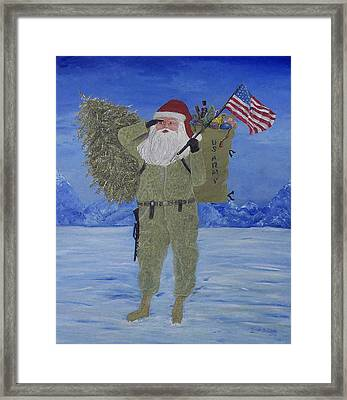 Christmas In Afghanistan  Framed Print