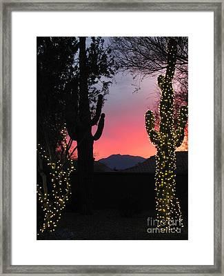 Christmas In Arizona Framed Print