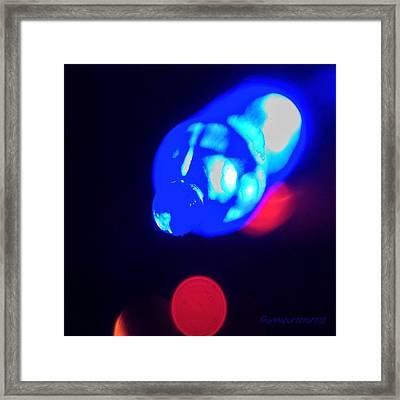 Christmas In Blue Framed Print