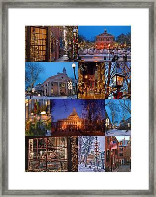 Christmas In Boston Framed Print by Joann Vitali