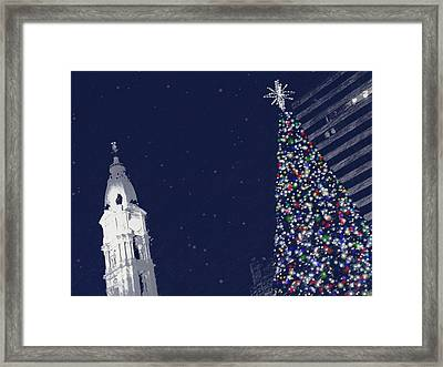 Framed Print featuring the photograph Christmas In Center City by Photographic Arts And Design Studio