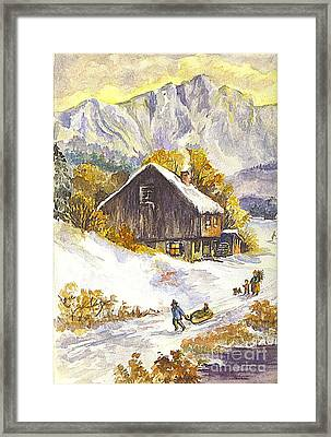 A Winter Wonderland Part 1 Framed Print by Carol Wisniewski