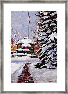 Christmas In Chagrin Falls Framed Print