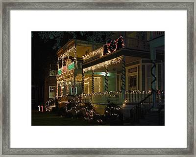 Christmas In Charleston Framed Print by Richard Marcus