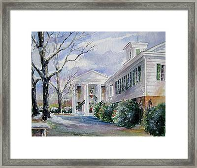 Christmas In Cheraw Prints Framed Print