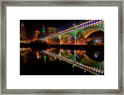 Christmas In Cleveland Framed Print
